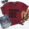 Football Wings & Beer V-Neck Tee