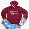 Half Human, Half Coffee Fleeced Lined Hoodie