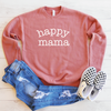 Happy Mama Drop Shoulder Sweatshirt