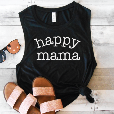 Happy Mama Muscle Tank