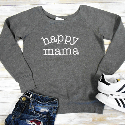 Happy Mama Wide Neck Sweater