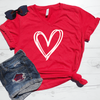 Double Heart V-Neck Tee