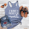 I Want A Ticket To Anywhere Eco Tank Top