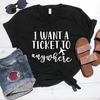 I Want A Ticket To Anywhere V-Neck Tee