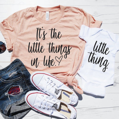 It's the Little Things in Life & Little Thing Shirt Set