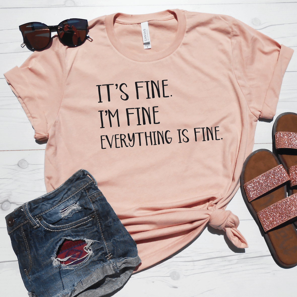 It S Fine I M Fine Everything Is Fine Shirt Stronggirlclothing