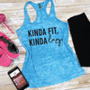 Kinda Fit Kinda Lazy Burnout Tank