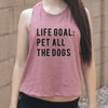 Life Goal Pet All The Dogs Crop Top