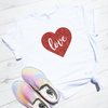 Love Glitter Heart Shirt