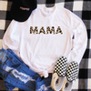 Mama Leopard Print Long Sleeve Shirt