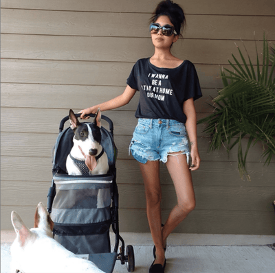 I Wanna Be A Stay At Home Dog Mom Flowy Tee