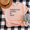 Weekends Coffee & Cats Shirt