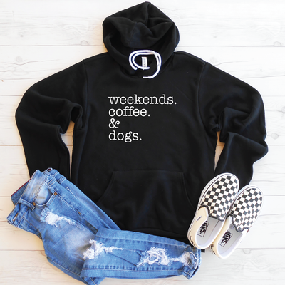 Weekends Coffee & Dogs Hoodie