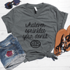 Whatever Sprinkles Your Donuts V-Neck Tee