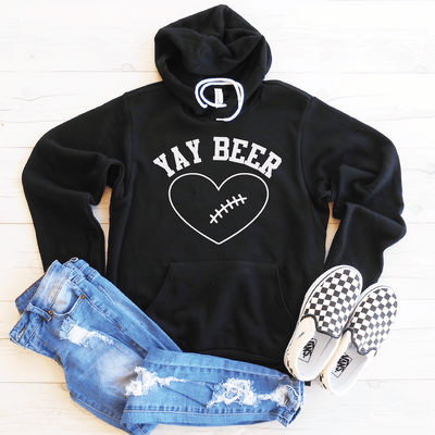 Yay Beer Fleece Lined Hoodie