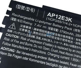 7.4V 3790mAh Acer AP12E3K battery