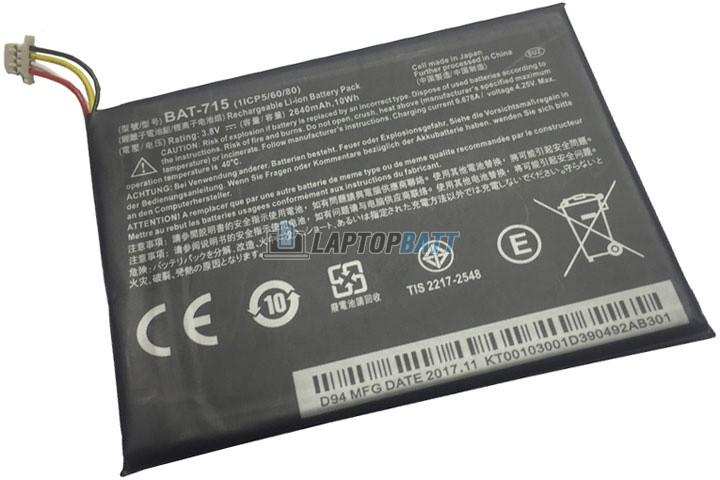 3.8V 2640mAh Acer BAT-715 battery