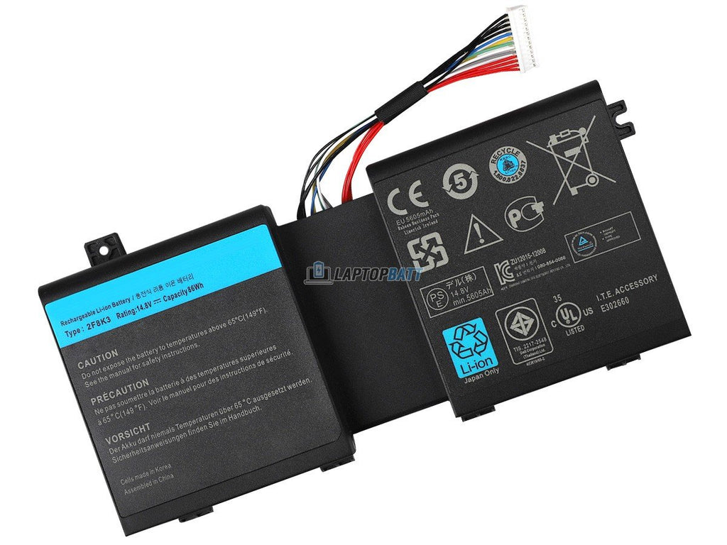 14.8V 5200mAh Dell Alienware M18X R3 battery