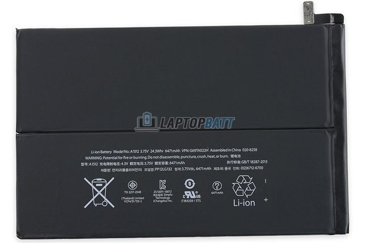 3.75V 6471mAh Apple iPad Mini 2 battery