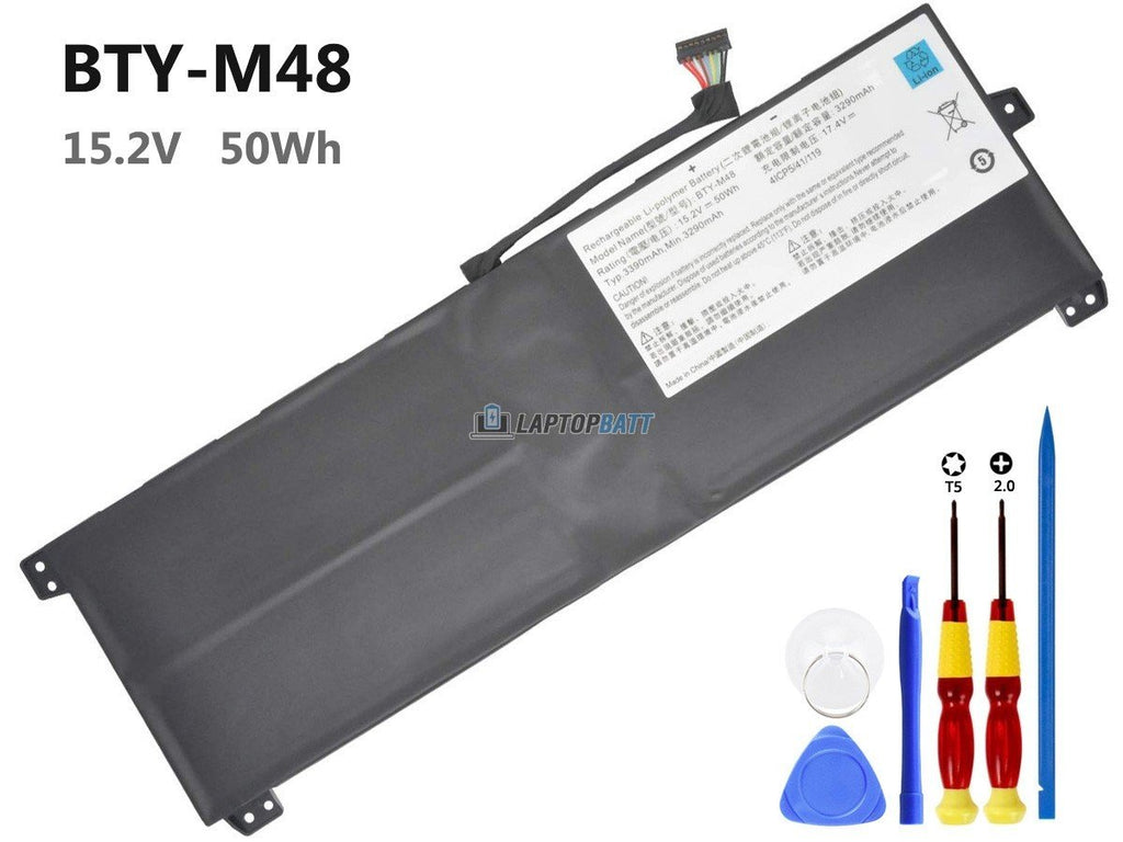 15.2V 50Wh MSI BTY-M48 battery