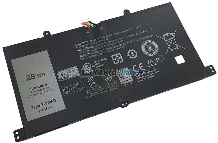 7.4V 28Wh Dell 7WMM7 battery