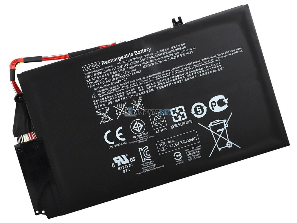 14.8V 3400mAh HP EL04XL battery