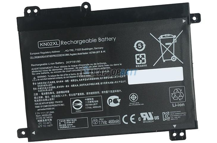 7.7V 37.2Wh HP KN02XL battery