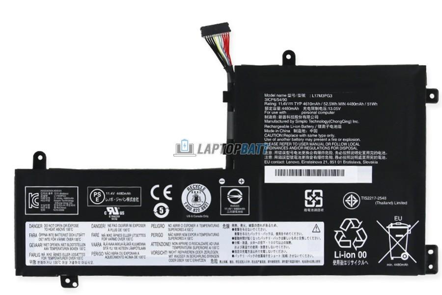 11.4V 52.5Wh Lenovo L17M3PG3 battery