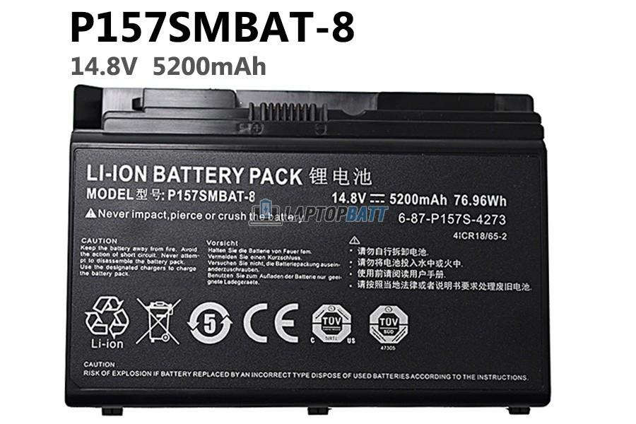 14.8V 5200mAh Hasee P157SMBAT-8 battery