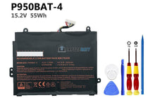 15.2V 55Wh Hasee P950BAT-4 battery