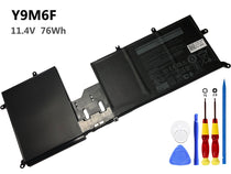 11.4V 76Wh Dell Y9M6F battery