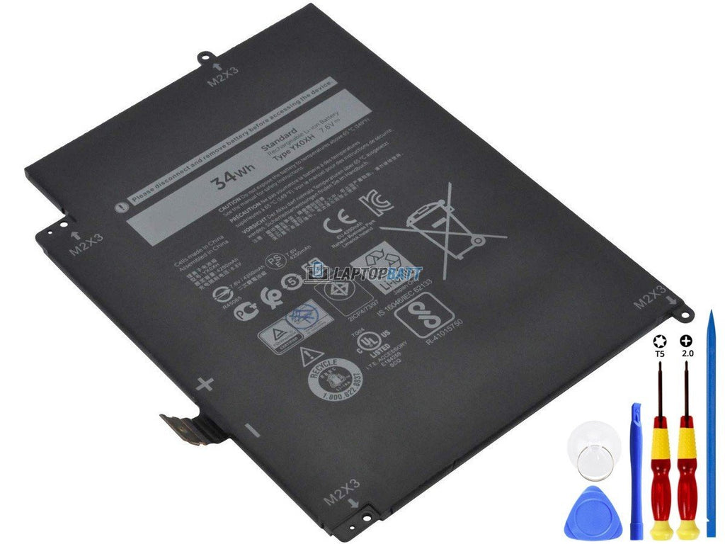 7.6V 34Wh Dell YX0XH battery