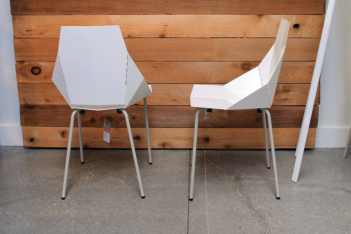 Blu Dot Real Good Chair In White, Set Of 2