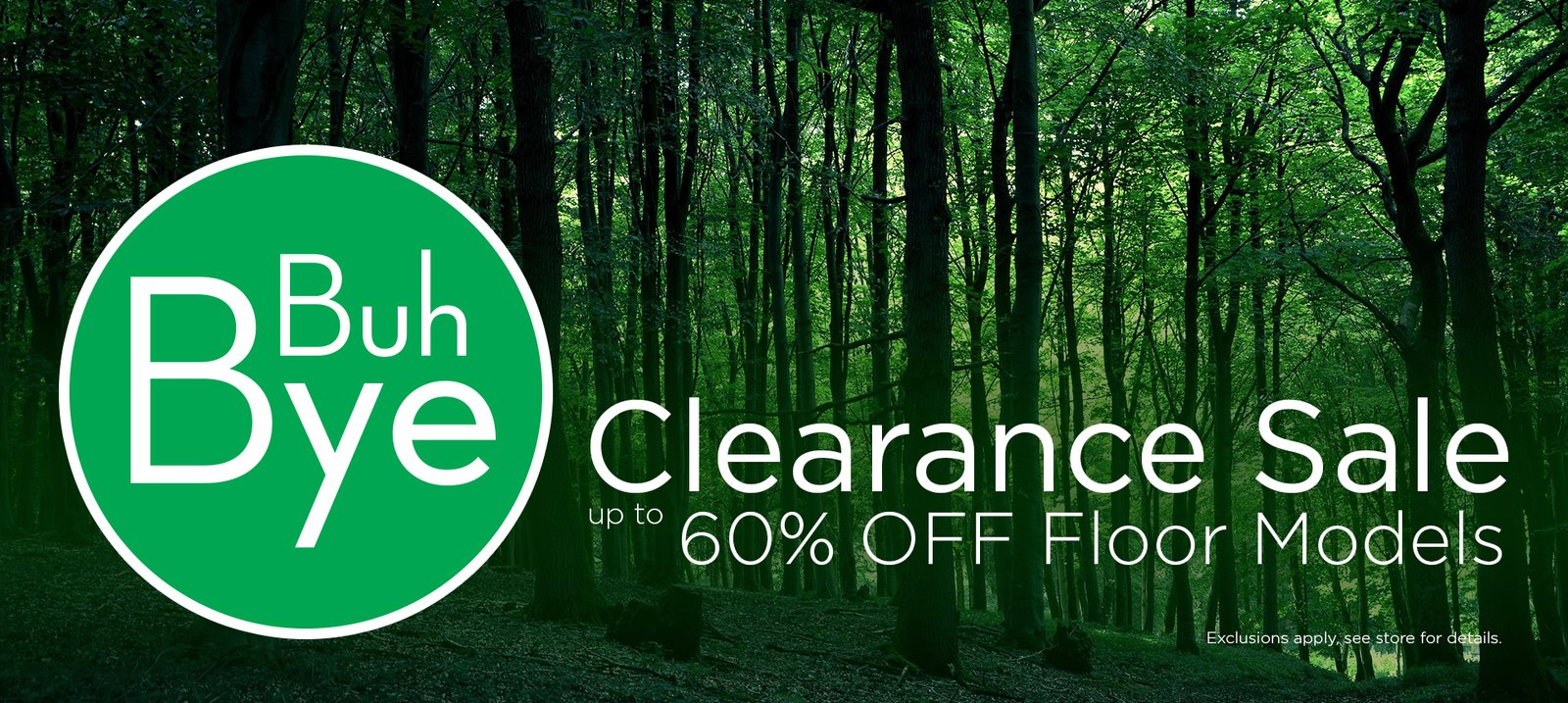 Floor Models Clearance Sale