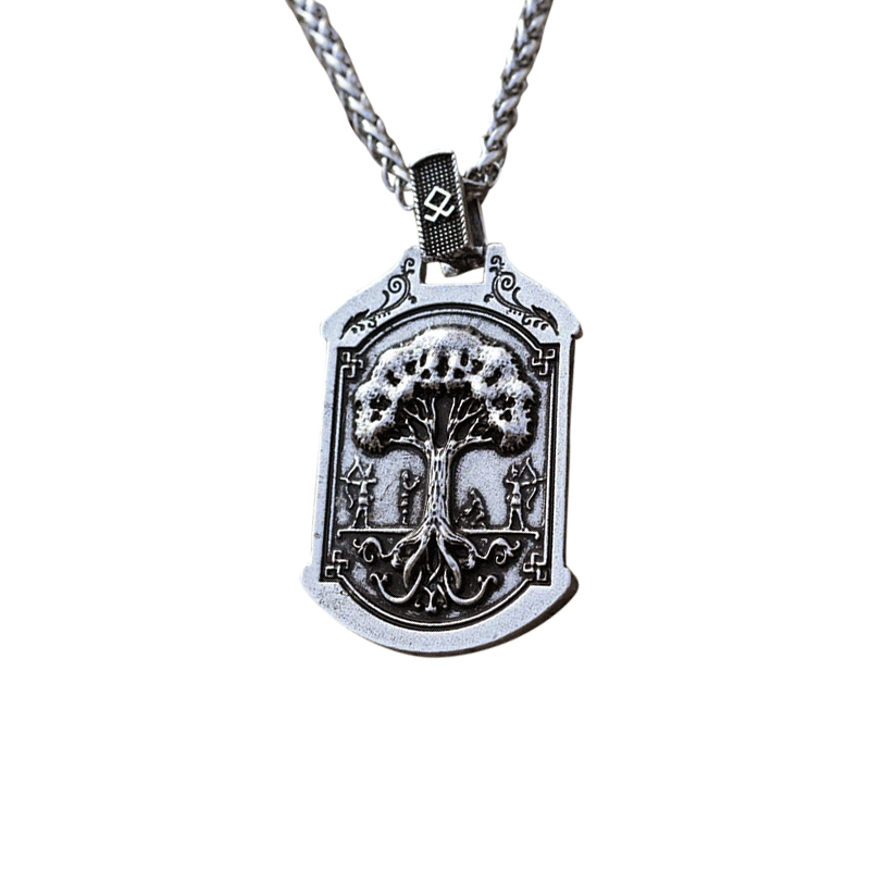 Collier Viking<br>Loup & Valknut</br>