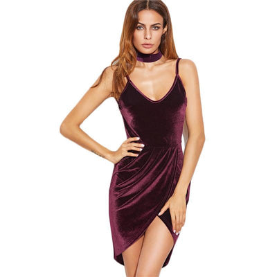 Robe moulante en velours - Superpromo.fr