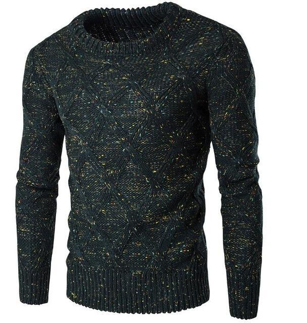 Sweater Men 2017 Brand Thickening Pullover Sweater Male O-Neck Color Dot Slim Fit Knitting Mens Sweaters Man Pullover Men XXL KL