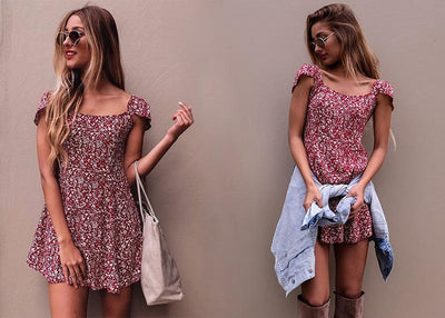 Mini robe boho dos nu - Superpromo.fr