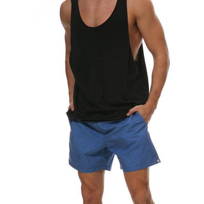 Short casual Bleu - Superpromo.fr