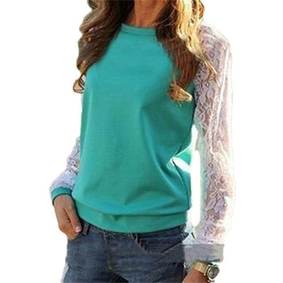 Pull Casual Manches Dentelle - Superpromo.fr