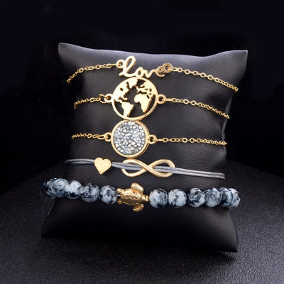 Lot de 5 Bracelets Tendances - Superpromo.fr