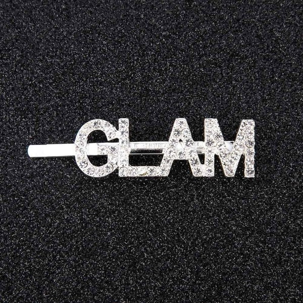 Shining Hairpins Crystal Letters Diamond Hair Accessories