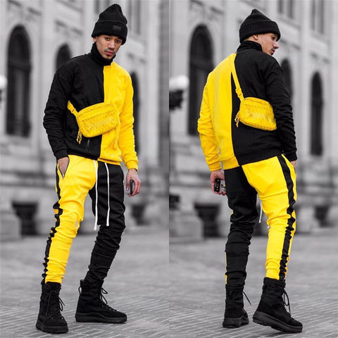 2 pieces Set Long Sleeve Hoodies Sweatshirt Sports Set Clothes Men Sports Hoodies+Pants Sets