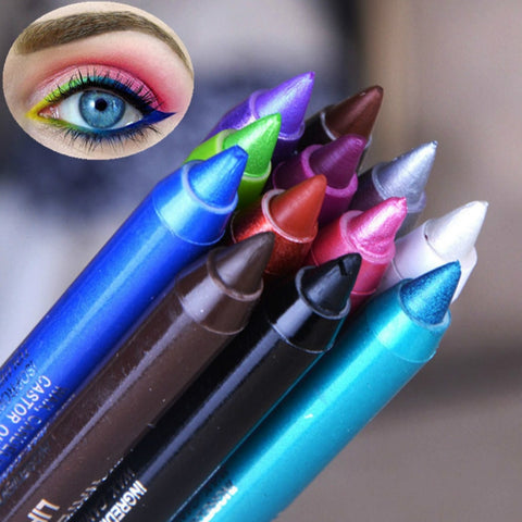 Long Lasting Eye Liner Pencil Waterproof 12 Colors