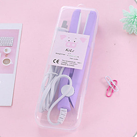 Mini Hair Flat Iron or Hair Comb Curling Straightener