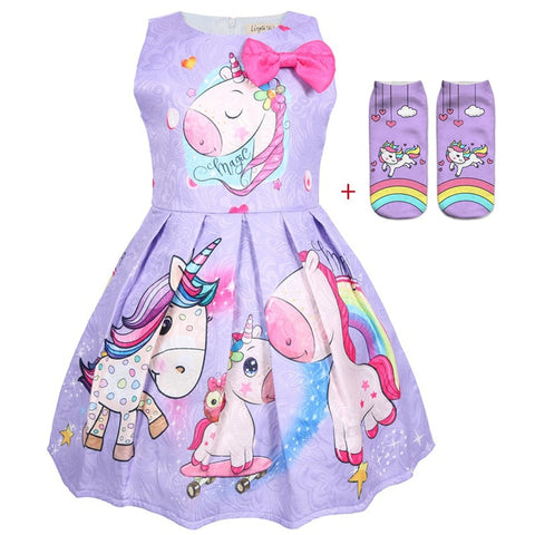 Unicorn sleeveless dress+sock or dress