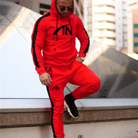 Sporting men Hoodies Sets Gyms Sportswear Jogger Tracksuit