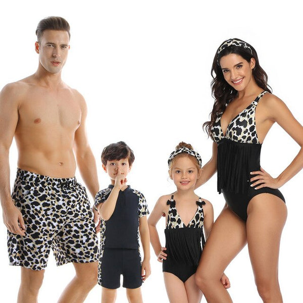 Family Matching Swimsuit Two Pieces Swimwear Swimming Suit