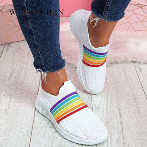 Woman Sneaker Casual Slip On Sock Breathable Walking Shoes