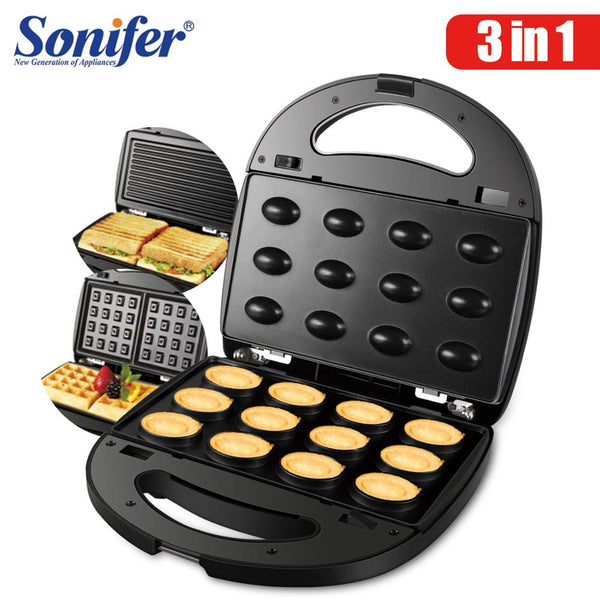 3 in 1 Electric Waffles, Sandwich, & Donut Maker Machine